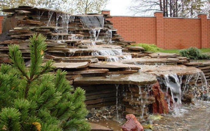 Декоративные садовые фонтаны и водопады: фото, устройство, как