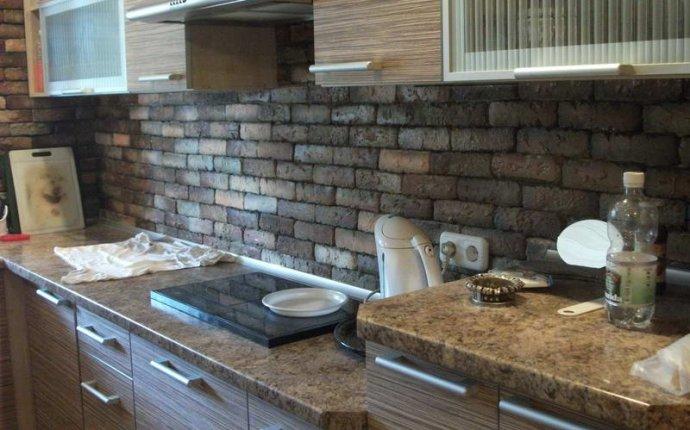 Декоративный камень на кухне (48 фото): видео-инструкция по