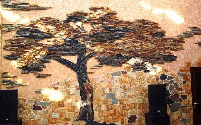 Декоративный камень в интерьере, разновидность декоративного камня