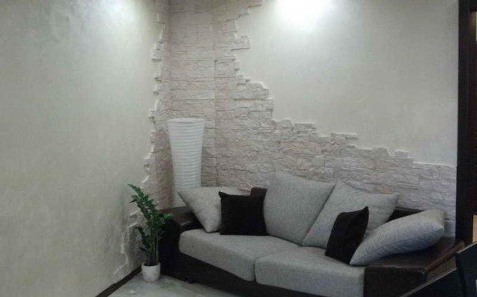 Декоративный камень в комнате фото и фото крутого дизайна после