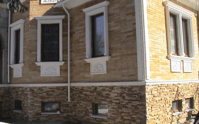 домов декоративным камнем фото