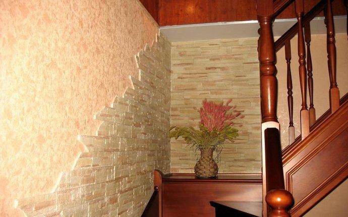 Использование декоративного камня в современном интерьере прихожей