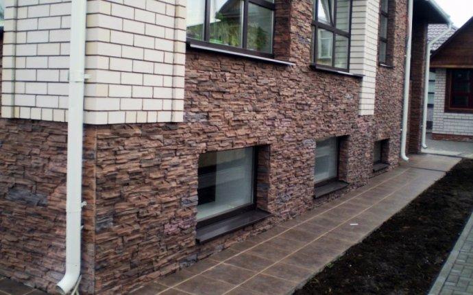 Отделка фасада декоративным, искусственным камнем
