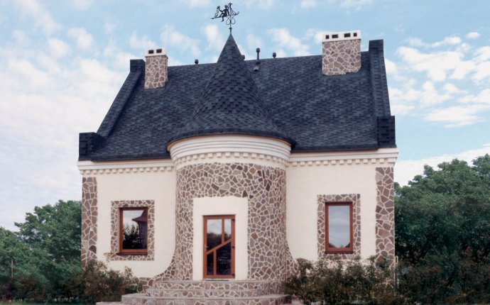 Отделка фасада дома камнем и штукатуркой: фото дизайна