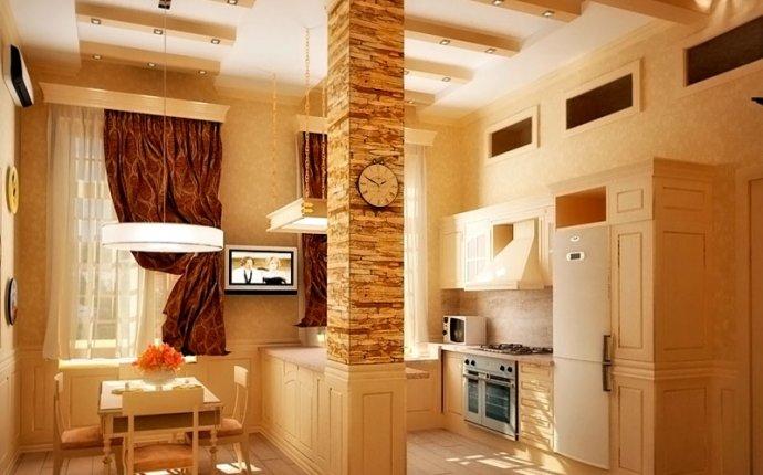 Отделка кухни декоративным камнем (42 фото), как отделать стены